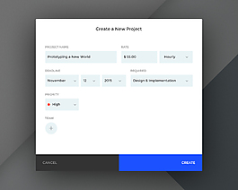 創建一個新項目界面網頁素材網頁UI