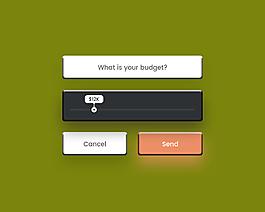 你的預算是多少網頁界面網頁UI設計素材