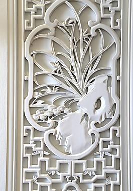 美式家居臥室門花紋效果圖