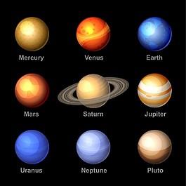 星球背景矢量素材