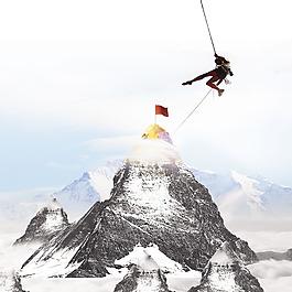山山峰云層冒險者素材
