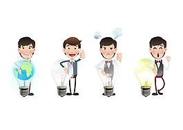 保護自然概念商務角色插圖