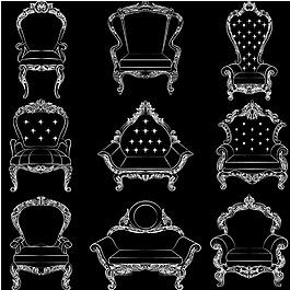 優雅的歐式椅子框架系列