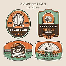 復古風格啤酒貼圖標