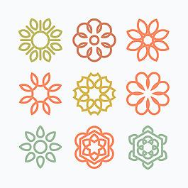 多色曼陀羅花紋系列圖標