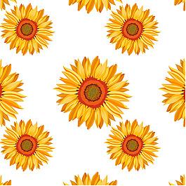 黃色向日葵裝飾圖案背景