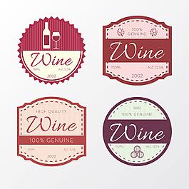 幾個不同形狀裝飾酒貼圖標