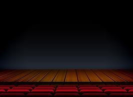 劇院木舞臺暗色背景
