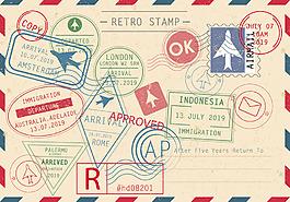 復古懷舊印章圖標