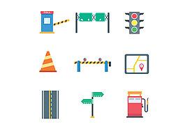 交通圖標矢量素材