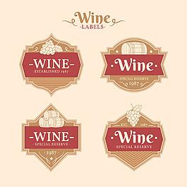 復古風格葡萄酒標簽