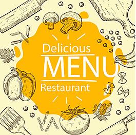 手繪美食菜譜封面設計