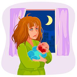 抱嬰兒的媽媽圖片