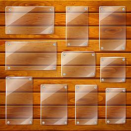 玻璃標簽木板背景圖片