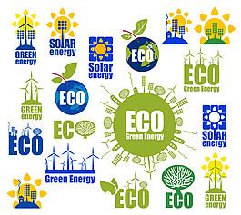 節能生態環保圖標圖片