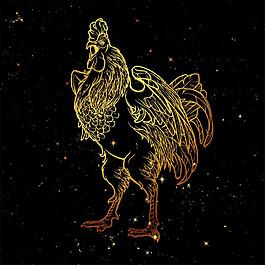 金色公鸡图片