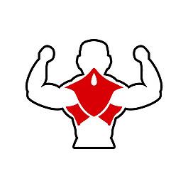 男性背三角肌圖片