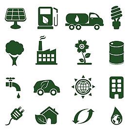 綠色環保圖標圖片1