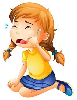 傷心大哭小女孩圖片