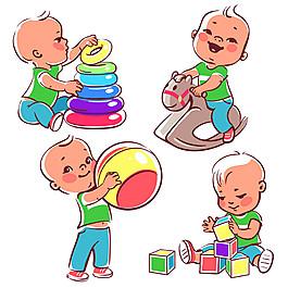 玩玩具的寶寶圖片