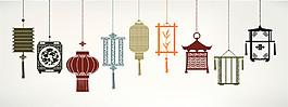中國燈籠花紋圖片
