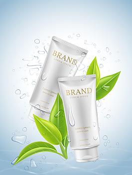 矢量水潤護膚產品