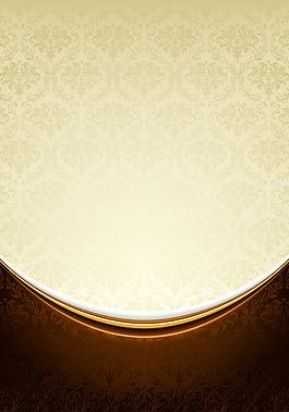 歐式金色花紋背景