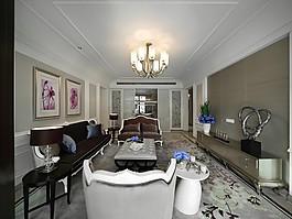 歐式客廳沙發吊燈設計圖