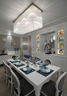 時尚餐廳餐桌吊燈設計圖