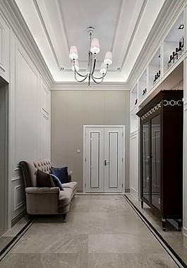 歐式室內走廊沙發設計圖