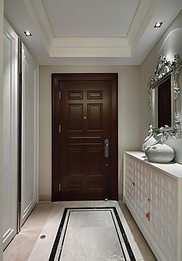 簡約室內走廊門設計圖