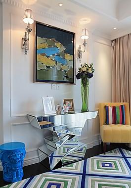 歐式客廳背景墻設計圖