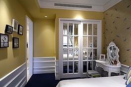 歐式臥室背景墻設計圖