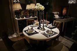 時尚餐廳餐桌設計圖
