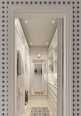 現代家居服裝間裝修效果圖