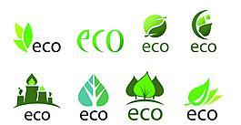 矢量綠葉元素