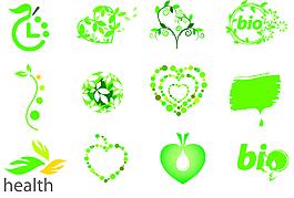矢量綠化圖標