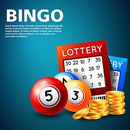 手繪bingo游戲插圖背景