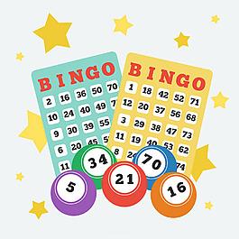 賓果游戲球與數字背景
