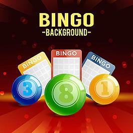 五顏六色的bingo游戲插圖背景