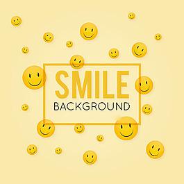 黃色幸福的臉裝飾背景