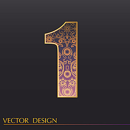 數字1裝飾圖案背景