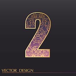 數字2裝飾圖案背景