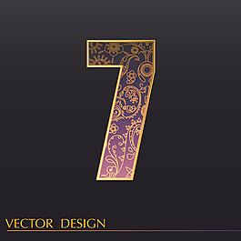 數字7裝飾圖案背景