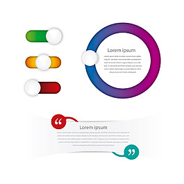 彩色漸變圖形設計矢量素材