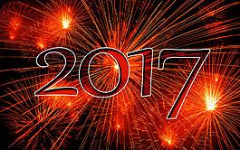 2017新年禮花背景圖片