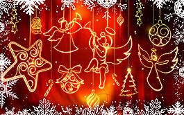 紅色圣誕節壁紙圖片