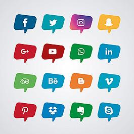 各種社交媒體圖標集合