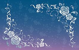 手繪白色花朵背景