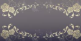 手繪白色花朵邊框背景